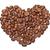 hart · koffiebonen · geïsoleerd · witte · koffie · achtergrond - stockfoto © discovod