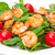 salad with grilled shrimp and tomatoes stock photo © discovod