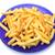 frito · patatas · azul · placa · blanco · rápido - foto stock © Discovod