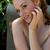 vörös · hajú · nő · közelkép · arc · csinos · sápadt · lány - stock fotó © disorderly