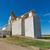 Saskatchewan · gabonatároló · sín · autó · közlekedés · égbolt - stock fotó © disorderly