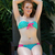 vörös · hajú · nő · csinos · sápadt · pötty · bikini · lány - stock fotó © disorderly