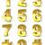 numérico · dígitos · coleção · seis · 3D · dourado - foto stock © djmilic