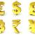 3D · gouden · borden · symbolen · geven · illustratie - stockfoto © djmilic