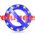 forbidden sign with eu flag and refugees refugees crisis concep stock photo © djmilic