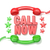 call now sign retro red and green phone receivers and stars cir stock photo © djmilic