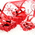 three red christmas gifts with ribbon on snow stock photo © dla4