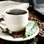 brewed coffee with laptopnewspapercoffee leaf at breakfast stock photo © dla4
