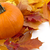 decoration of pumpkins with autumn leaves for thanksgiving day o stock photo © dla4