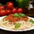 スパゲティ · カトラリー · 赤ワイン · ボトル · 選択フォーカス · フォーカス - ストックフォト © dla4