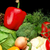 group of different vegetables on black vertically stock photo © dla4