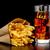 grande · cheeseburger · patatine · fritte · nero · desk · legno - foto d'archivio © dla4