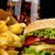 удвоится · чизбургер · аппетитный · готовый · продовольствие · пить - Сток-фото © dla4