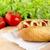 hotdog · saláta · paradicsomok · vág · hot · dog · saláta - stock fotó © dla4