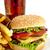 Cheeseburger · weiß · seicht · Abendessen - stock foto © dla4