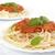 спагетти · соус · болоньезе · вверх · белый · пасты · пластина - Сток-фото © dla4