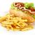 Hot · Dog · картофель · фри · древесины · обеда · чипа · еды - Сток-фото © dla4