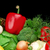 group of different vegetables on black stock photo © dla4