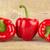 赤 · 鐘 · ピーマン · 素朴な · 木製のテーブル · 食品 - ストックフォト © dla4