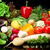 group of different vegetables on black background stock photo © dla4