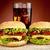 гамбургер · холодные · напитки · таблице · продовольствие · льда - Сток-фото © dla4