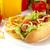 хот-дог · картофель · фри · пластина · белый · Hot · Dog · томатный - Сток-фото © dla4