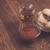 Jam, tea and buns on a table stock photo © dmitroza