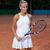 sportos · nő · gyönyörű · fiatal · nő · tenisz · ruha - stock fotó © dmitroza