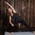 nő · meditál · oldal · egyensúly · jóga · pozició - stock fotó © dmitroza