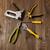 nécessaire · outils · travaux · table · en · bois - photo stock © dmitroza