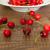fresco · cerejas · mesa · de · madeira · branco · prato · vermelho - foto stock © dmitroza