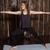 jóga · nő · képzés · meditál · harcos · póz - stock fotó © dmitroza