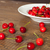 Fresh cherries  on the brown table stock photo © dmitroza