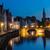 België · kanaal · avond · nacht · landschap · rij - stockfoto © dmitry_rukhlenko