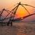 силуэта · рыбак · закат · удивительный · красочный · свет - Сток-фото © dmitry_rukhlenko