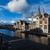 canal · rue · Belgique · coucher · du · soleil · ciel · eau - photo stock © dmitry_rukhlenko