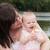 mãe · filha · ao · ar · livre · flor · sorridente - foto stock © dnf-style