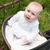baby is looking up in her pram stock photo © dnf-style