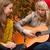 énekel · dal · gitár · lányok · szórakozás · erdő - stock fotó © DNF-Style