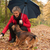 midlle aged woman plays with her dog stock photo © dnf-style