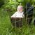 baba · klasszikus · babakocsi · kislány · ül · mosoly - stock fotó © DNF-Style