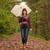 kadın · şemsiye · yağmur · iş · gülen · sigorta - stok fotoğraf © dnf-style