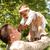 семьи · сидят · вместе · ребенка - Сток-фото © dnf-style