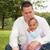 baba · kız · mutlu · karışık · aile · güzel - stok fotoğraf © DNF-Style