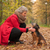 femme · cute · chien · forêt · automne - photo stock © DNF-Style