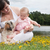 bebek · köpek · yavrusu · alan · tatlı · bahar - stok fotoğraf © dnf-style