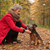 femme · chien · automne · forêt · dame - photo stock © DNF-Style
