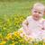 tatlı · bebek · alan · çiçekler · yüz - stok fotoğraf © DNF-Style