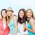 grupo · sorridente · meninas · praia · verão · férias - foto stock © dolgachov