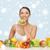 gyümölcsök · hó · közelkép · fa · narancs · jég - stock fotó © dolgachov